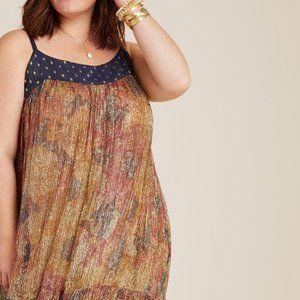 Anthropologie Nadine Shimmer Midi Dress